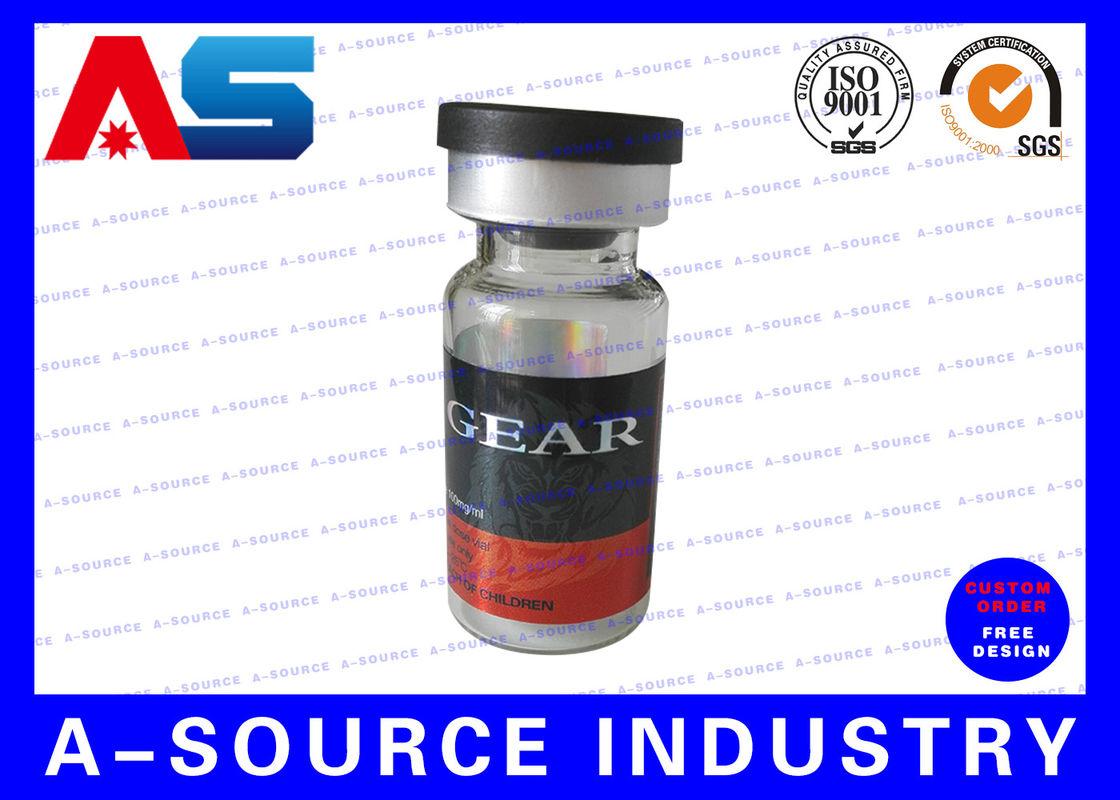 Etiquetas esteroides de los frascos de cristal 10ml, impresión ...