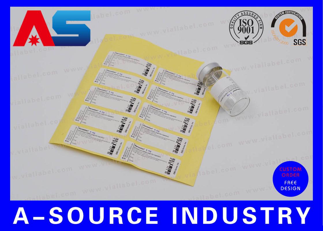 Las etiquetas engomadas adhesivas del papel 2ml de la Anti ...